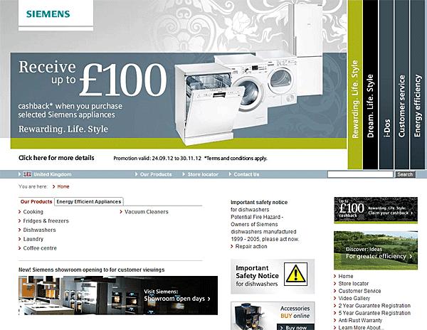 Siemens Washing Machine Example