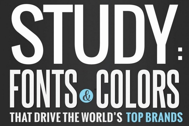 The World's Largest Brands in Fonts & Colors