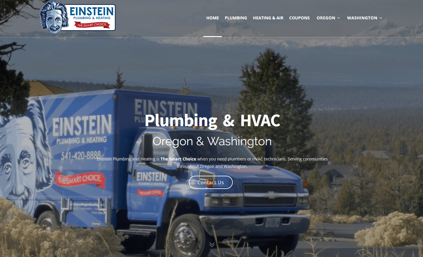 Einstein Plumbing Website
