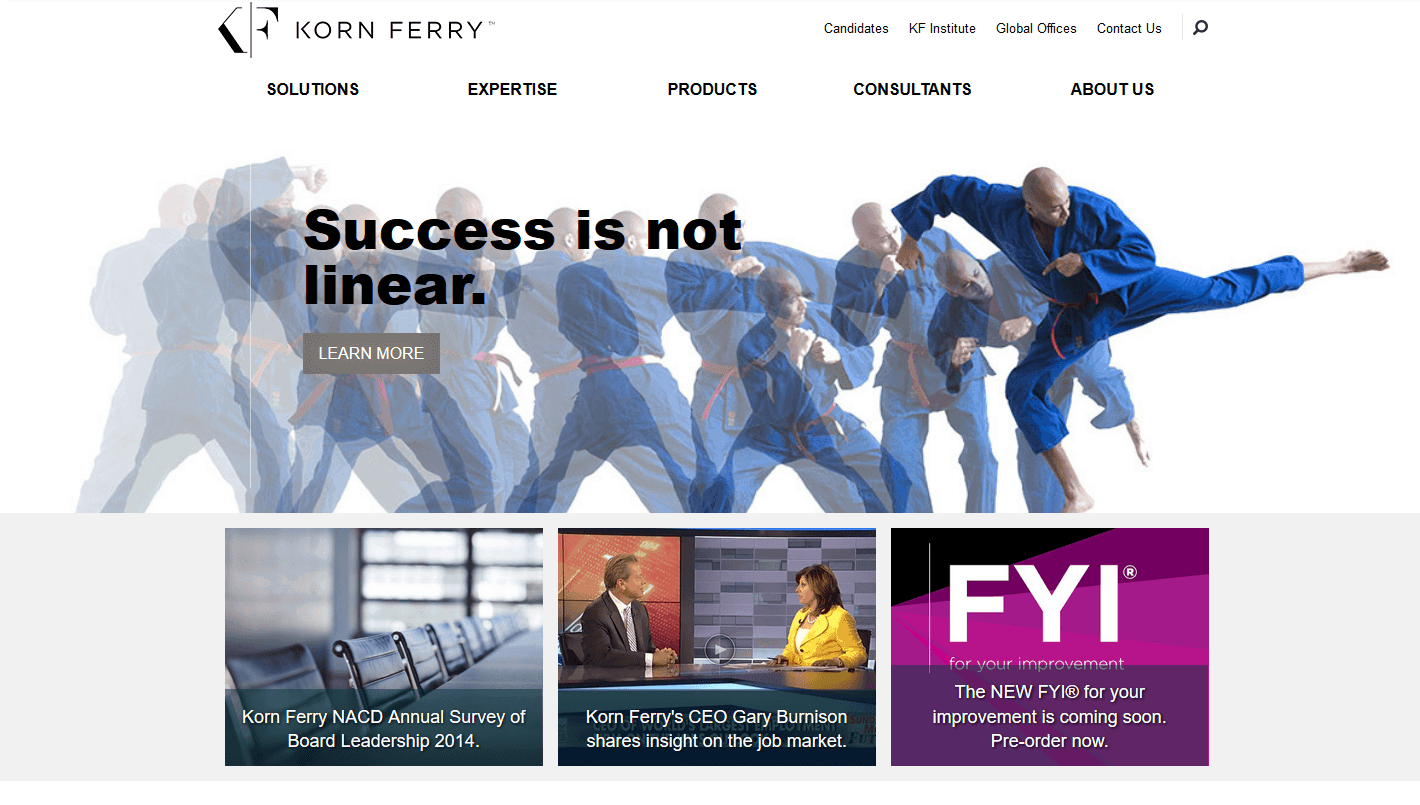 Old Korn Ferry Website