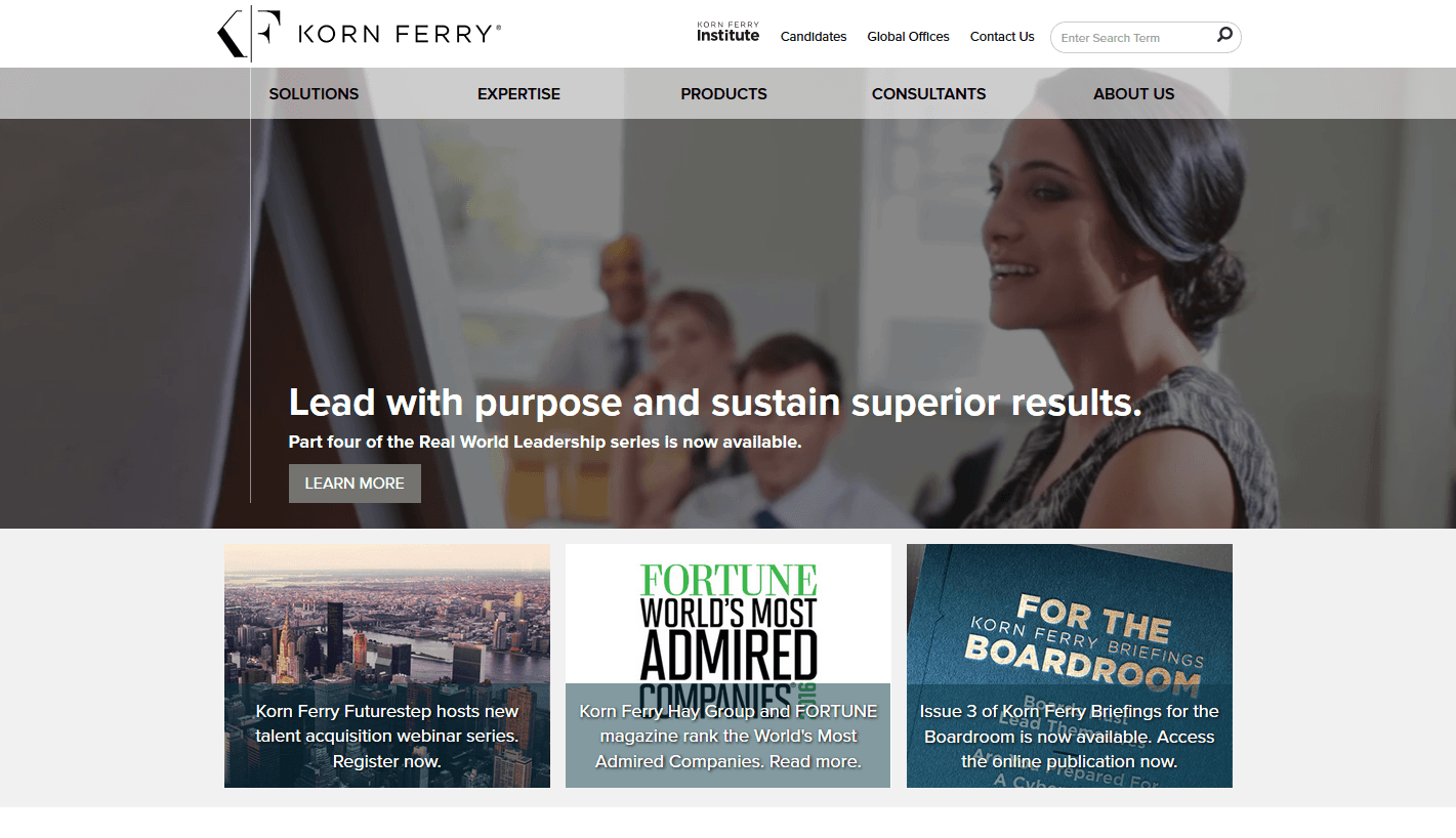 New Korn Ferry Website