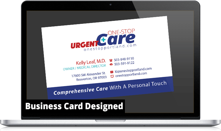 One Stop Urgent Care Business Card AFTER 1